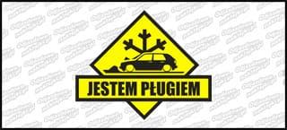 Jestem pługiem VW Golf Mk2 5D A 15cm żółto czarna