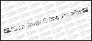 Seat Klub Polska napis 30cm
