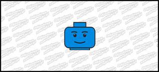Lego Head A 10cm Niebieska
