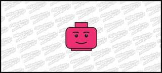 Lego Head A 5cm Różowa
