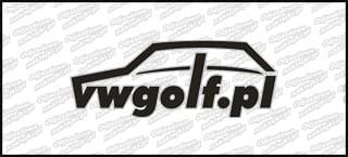 VWGolf.pl Mk1 Logo 15cm Czarno Biała
