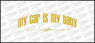 My car is my baby 15cm