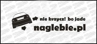 naglebie.pl Audi A3 '99 30cm biała