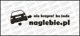 naglebie.pl Opel Astra I 20cm biała