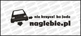 naglebie.pl VW Golf MK1 20cm biała