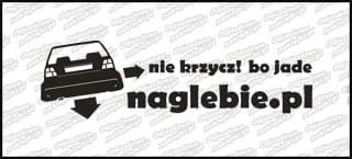 naglebie.pl VW Golf MK2 20cm biała