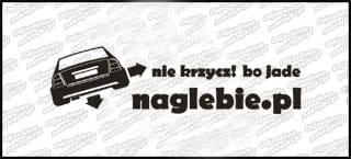 naglebie.pl Opel Astra Coupe 30cm biała