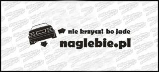 naglebie.pl VW Passat B2 Sedan 20cm biała