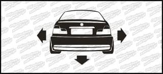 Nisko i Szeroko BMW E46 10 cm