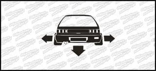 Nisko i szeroko Honda Civic IV 10cm