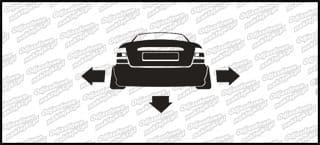 Nisko i szeroko Opel Vectra B sedan 10cm