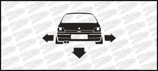 Nisko i szeroko Renault Clio 10cm