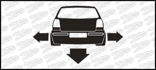 Nisko i szeroko VW Polo 6n2 10cm
