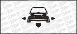 Nisko i szeroko Opel Vectra Kombi 10cm