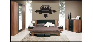 Nisko szeroko VW Golf Mk4 na ścianę 100cm Czarny Mat