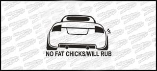 No Fat Chicks Audi TT 10cm