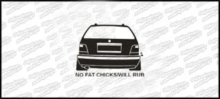 No Fat Chcks BMW E36 Kombi 10cm
