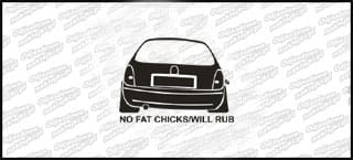 No Fat Chicks Opel Corsa B 10cm