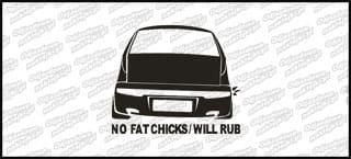No Fat Chicks Fiat Punto mk2 10cm