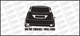 No Fat chicks will rub Ford Focus 10cm