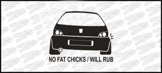 No Fat Chicks Peugeot 106 10cm