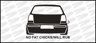 No Fat chicks VW Polo 6n2 10cm