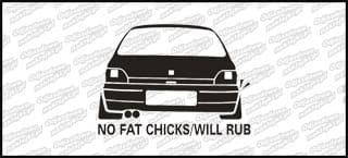 No fat chicks Renault Clio 10cm