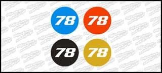 Numery startowe 20cm różne kolory