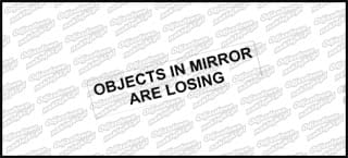 Object in mirror are losing 6cm
