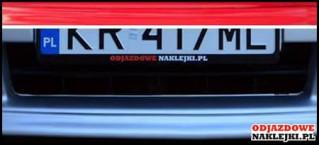 Odjazdowa Ramka pod rejestrację - 2 sztuki