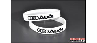 Opaska silikonowa Audi biała