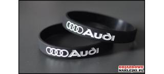 Opaska silikonowa Audi czarna