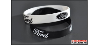 Opaska silikonowa Ford biała