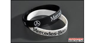 Opaska silikonowa Mercedes Benz biała