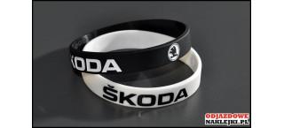 Opaska silikonowa Skoda czarna