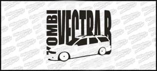 Opel Vectra B kombi 15cm czarna Naprasowanka