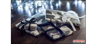 Papier WHITE CAMMO do pakowania prezentów 1 szt 70/50cm