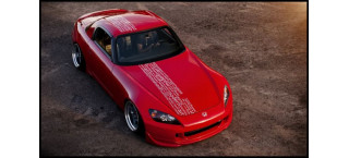 Plakat Honda S2000 Red A2