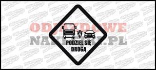 Podziel się drogą 12cm Odblaskowa