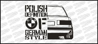Polish definition of german style BMW E30 20cm