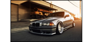 Plakat BMW E36 Slammed A2