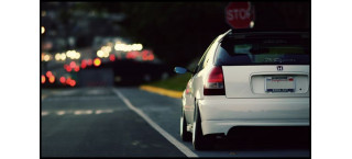 Plakat Honda Civic Slammed A2
