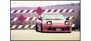 Plakat Nissan S13 Red A2