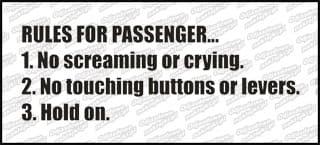 Rules for passengers 20cm biała