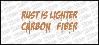 Rust is lighter carbon fiber 15cm złota