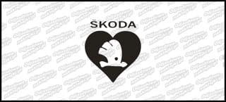 Skoda logo serce 10cm