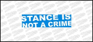 Stance Is not a crime 15cm Niebieska