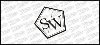 Stance Works Logo 10cm biała