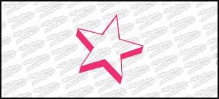 Star A różowa 10cm
