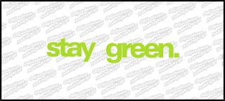 stay green. 20cm